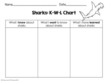 Sharks: Reading Activities and Booklet