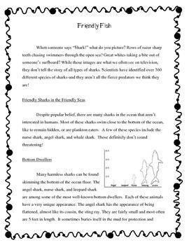Sharks! Reading Comprehension