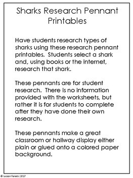 Sharks Research Pennants