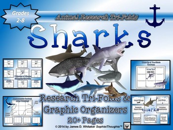 Sharks Research Tri-Folds and Graphic Organizers