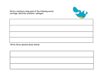 Sharks- Scavenger Hunt- Read and Write The Room- Grades 3-6