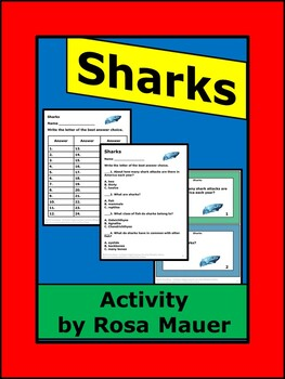 Sharks Science Facts Task Cards and Worksheet