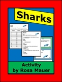 Sharks Animal Facts Task Cards and Worksheet Activity