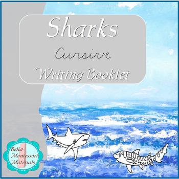 Sharks Writing  Booklet - Cursive