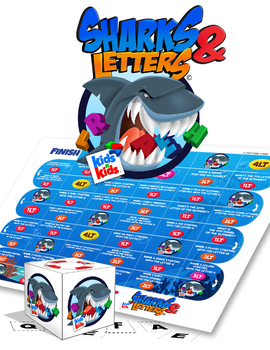 Alphabet activities, Sharks and Letters, Boardgame