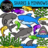 Sharks and Minnows: Ocean Clipart {Creative Clips Clipart}