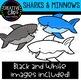 Sharks and Minnows: Ocean Clipart {Creative Clips Clipart}