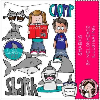 Sharks clip art - by Melonheadz