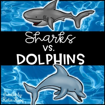 Sharks vs. Dolphins Multiplication Freebie