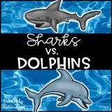 Sharks vs. Dolphins Multiplication Freebie