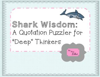 Shark Wisdom Quotation Puzzle