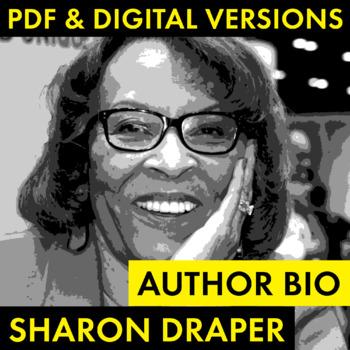 Sharon Draper Author Study Worksheet, Author Bio., Easy Biography Activity, CCSS