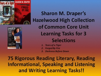 Sharon Draper's Hazelwood High Series - 75 Rigorous Learning Tasks!!