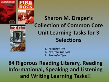 Sharon Draper's Tears of a Tiger, Forged by Fire, and Fire From the Rock Tasks