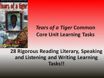 "Sharon M. Draper's ""Tears of a Tiger"" - 28 Common Core Lea"