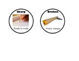 Sharp/Broken Pencil