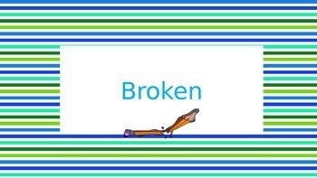 Sharp Broken Pencil Signs