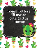 Sharp! Cute Cactus Boggle Letters