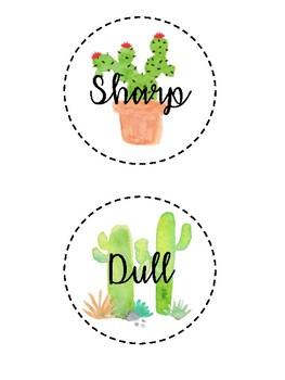 Sharp & Dull Cactus Labels