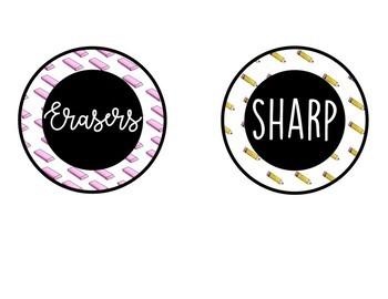 Sharp Dull Pencil & Eraser Labels
