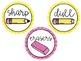 Sharp, Dull, & Eraser Labels (8 FONTS)