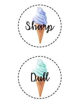 Sharp & Dull Ice Cream Cones Labels