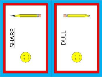 Sharp-Dull Pencil Can Labels - Dr. Seuss Tribute Colors