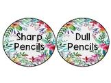 Sharp/ Dull Pencil Labels