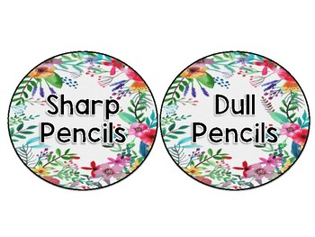 Sharp/ Dull Pencil Labels