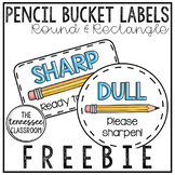 Sharp/Dull Pencil Labels