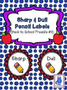 Sharp & Dull Pencil Labels~ BTS FREEBIE