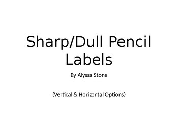 Sharp-Dull Pencil Labels - Burlap