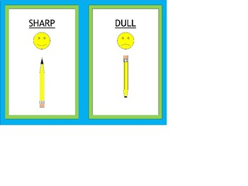 Sharp-Dull Pencil Labels - Lime & Teal