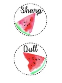 Sharp & Dull Watermelon Labels