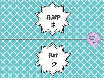 Sharp-Flat Pencil Holder Printable Freebie