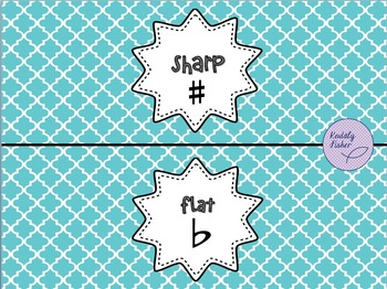 Sharp-Flat Pencil Holder Printable Freebie