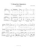 Sharp Key Signatures Song, Teacher Edition
