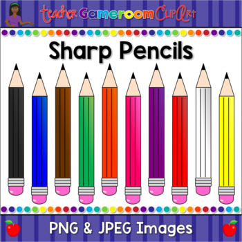 Sharp Pencil Clip Art Set