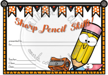 Sharp Pencil Skills!