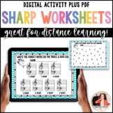 Sharp Week! 8 Sharps Review Worksheets for Elementary Music Students