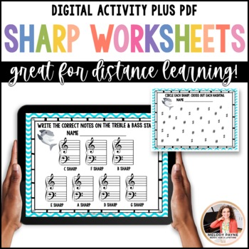 Sharp Week! 8 Sharps Review Worksheets for Elementary Musi