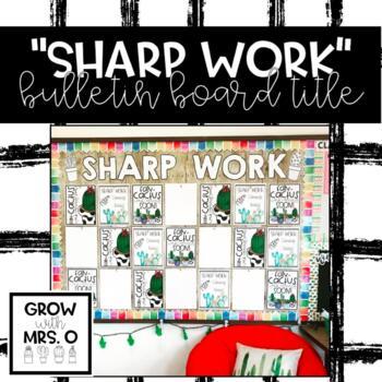 Sharp Work Bulletin Board Title