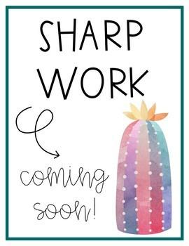 Sharp Work Coming Soon