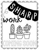 Sharp Work Coming Soon *Freebie*