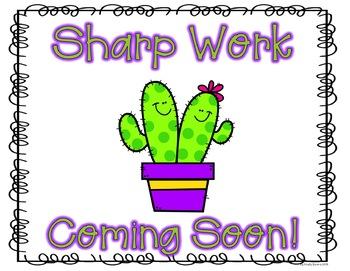 Sharp Work Coming Soon! - Cactus Theme