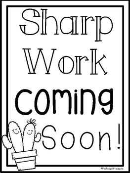 Sharp Work Coming Soon FREEBIE