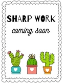 Sharp Work Coming Soon Sign