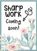 Sharp Work coming soon - Tropical Watercolor Theme-Cactus