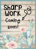 Sharp Work coming soon - Tropical Watercolor Theme-Cactus