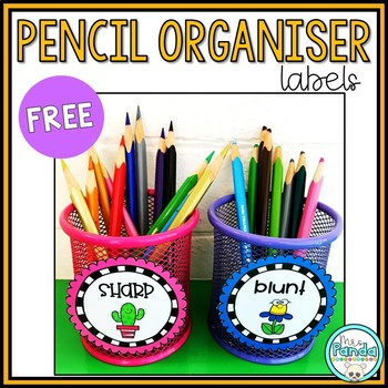 Sharp and Blunt Pencil Container Signs FREEBIE
